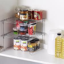 2 tier kitchen cupboard folding storage rack
