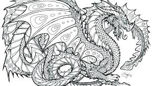 Free Printable Coloring Pages For Adults Advanced Dragons Horse