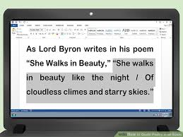 how to quote poetry in an essay pictures wikihow image titled quote poetry in an essay step 2