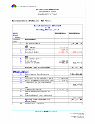 Bank Reconciliation Template Reconciliation Worksheet Excel Account Template Come With Sample 1