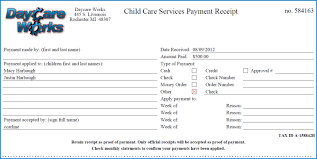 Best Photos Of Educare Daycare Center Template For Receipt