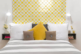 Yellow Headboard Headboard Wallpaper Ideas For The Bedroom Inspirationseek  Set