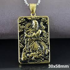 guan yu titanium 30x58mm luck charm