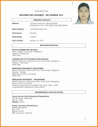 Resume Sample Pdf Format Therpgmovie