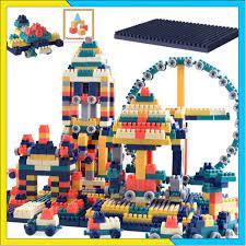 Smart Toy For Kids ] Bộ Đồ Chơi Xếp Hình Lego 100 chi tiết cho bé màu đậm