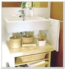 bathroom pedestal sink storage image