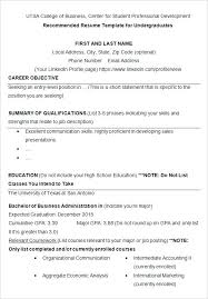 College Student Sample Resume College Student Resume Templates