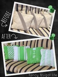 before after outdoor pillow makeover