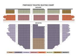 Pantages Theater Seating Chart Wicked About Pantages Theatre