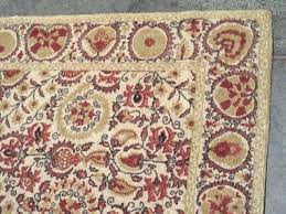 pottery barn terracotta red wool rug rugs outdoor