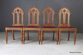 antique wooden dining chairs. Plain Wooden 4 Oak Gothic Revival Dining Chairs  Vintage Retro And Antique Furniture On Antique Wooden B