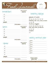 Daily Food Diary Template Downloadable Journal Journals Free Ooojo Co