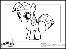 Coloring Pages My Little Pony Coloring Pages Twilight Amazing