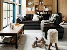 living room design with black leather sofa blog home design 2018