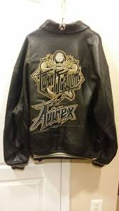 avirex twin dragon er leather jacket black embroidered excellent condition