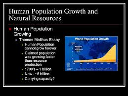 human impact on ecosytems ppt human population growth and natural resources