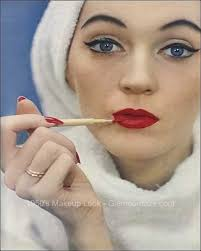 1950s makeup party face guide