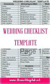 Free Wedding Checklist Template Printable Worksheets Hetero Co