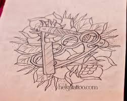 дизайн бритва и кастет хельга хаген художница тату мастер