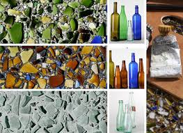 recycled glass tile countertop surface material