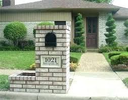 stone mailbox designs. Creative Mailbox Designs Planters Stone Flower Planter Custom Address Block And A Large