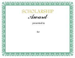 scholarship templates scholarship award certificate template apa templates also