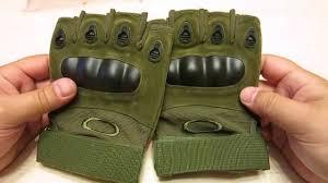 <b>Тактические перчатки без пальцев</b> Oakley - обзор посылки с ...