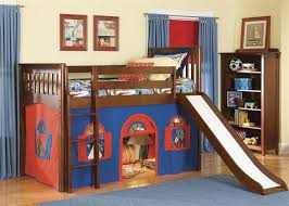 cool kids beds with slide.  With Image Of Loft Beds For Kids With Slide Ideas Intended Cool D