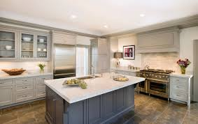 Cw Design Llc Classic Taupe Inset Kitchen With Gray Island Wood Hood And