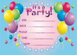 Party Birthday Cards Invitation Cards For Birthdays Invitations For