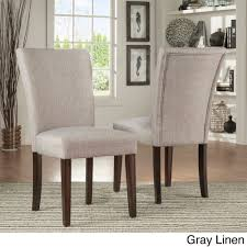 catherine parsons dining chair set of 2 by inspire q bold gray linen set of 2 grey fabric