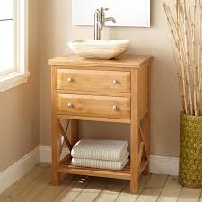 Bamboo Bathroom Sink 24 Narrow Depth Clinton Bamboo Vessel Sink Vanity Bathroom