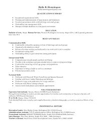 Skills For A Resume 19 Splendid Design Ideal Format 4