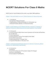ncert solutions for class 8 maths n