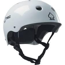 Protec Classic Cpsc Gloss White Skate Helmet Certified