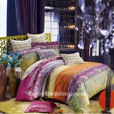 new cotton purple flower king quilt doona cover set bedding sets throughout bohemian comforter plan 16