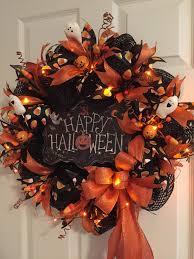 Halloween Wreath Lighted Halloween Wreath Happy Halloween
