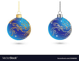 Silver Balls Decor Classy Christmas Balls Decoration With Silver And Gold Vector Image