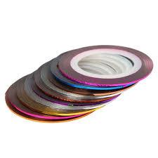 Amazon.com: 30Pcs Mixed Colors Rolls Striping Tape Line Nail Art ...