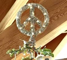 peace sign wreath alternate view lighted lit outdoor tree topper wire image 0 outdoor lighted peace sign