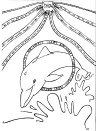 Small Picture Dolphin Coloring Pages Printable Free Printable Dolphin Coloring
