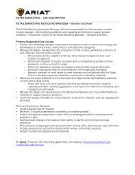 Creative Retail Jobs Free Marketing Retail Job Description Templates At