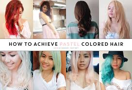How To Achieving Blonde And Pastel Hair Kisty Mea