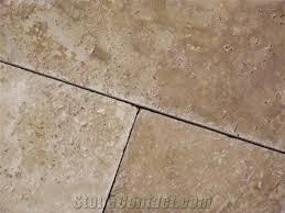 warm walnut versailles pattern travertine tile