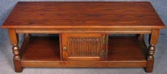 old charm coffee table oak linen fold long tv