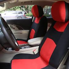 red black full set car seat covers w 4 headrests covers for auto com