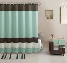 17 pc bathroom accessory set w towels shower curtain rug more bath decor
