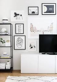 Decorating: Modern Tv Wall With Gallery Ideas - Modern TV Decor