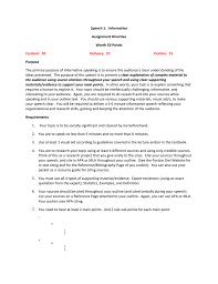 Informative Speech Directive
