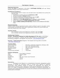 Software Testing Resume Samples 2 Years Experience Resume Work